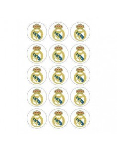 Papel de azúcar escudo Real Madrid para galletas