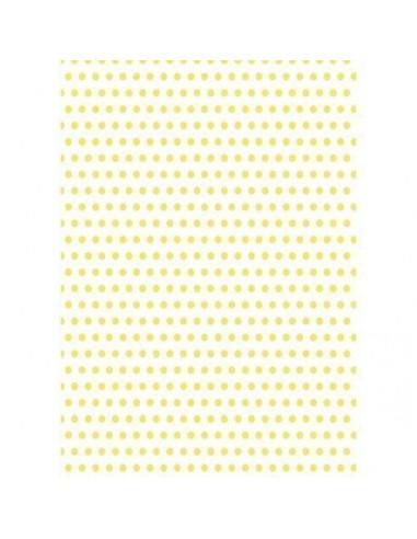 Papel de azúcar lunares amarillos