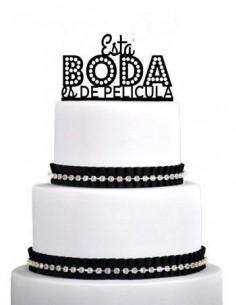 Topper para tarta una boda de pelicula