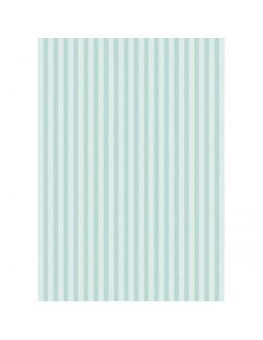 Papel de azúcar rayas azules