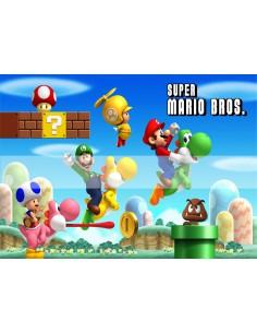 Papel de azúcar Super Mario Bros