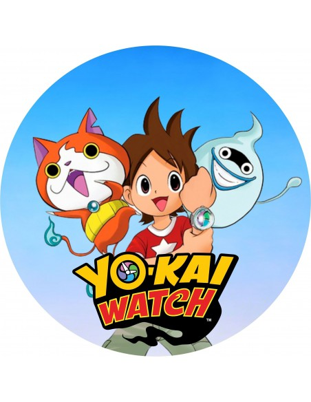 Papel de azúcar Yo-Kai Watch para tarta