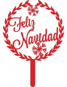 Topper floral Feliz Navidad
