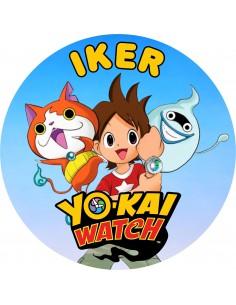 Papel de azúcar personalizado Yo-Kai Watch
