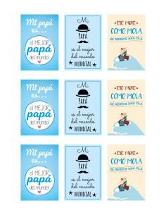 Papel de azúcar frases dia del padre
