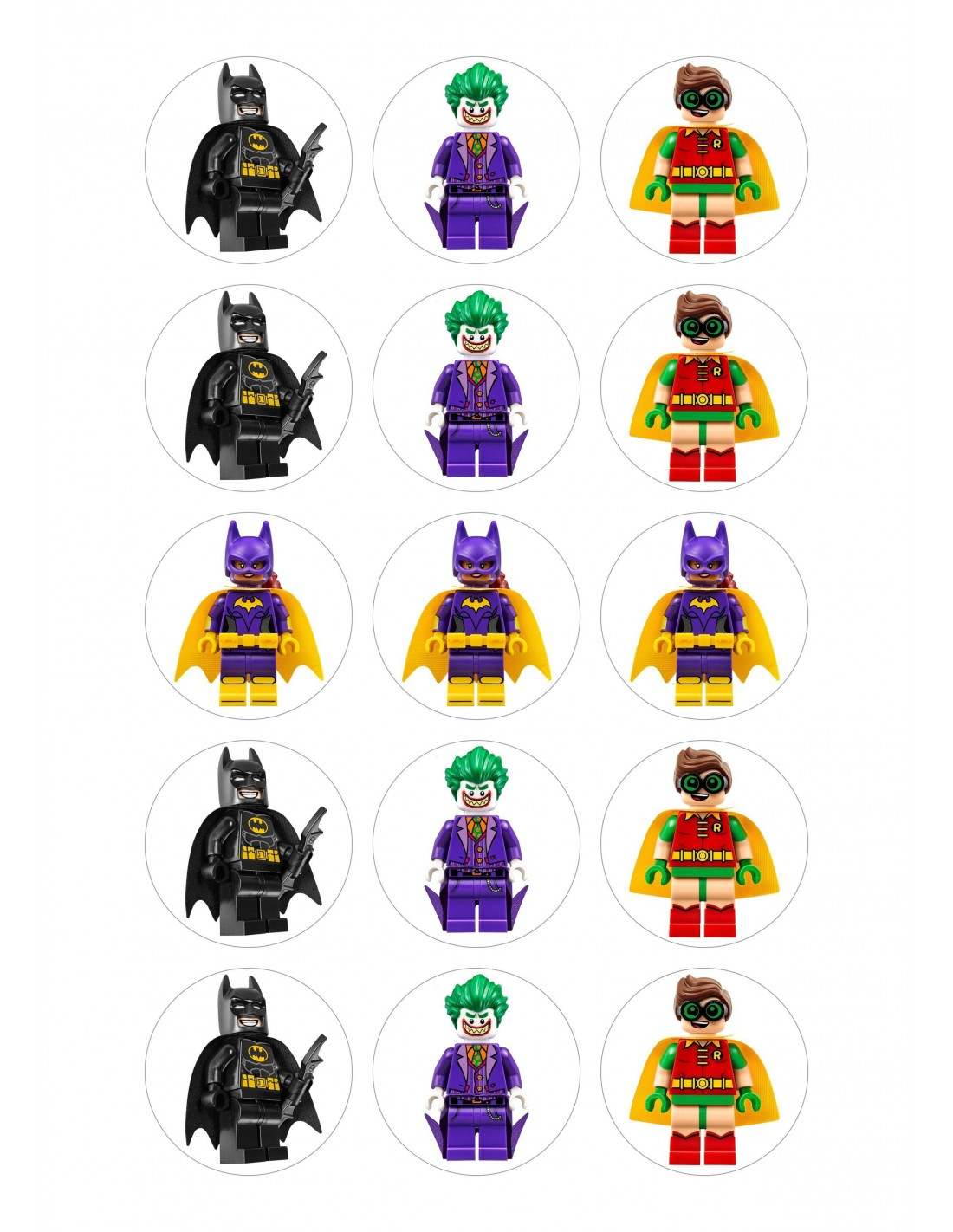 Papel de azucar tartas batman lego playmobil - Batman playmobil ...