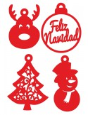 Set adornos navideños
