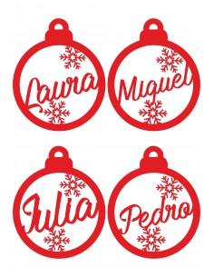 Set adornos navideños personalizdos