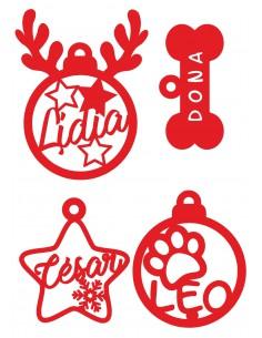 Set adornos navideños personalizdos mascotas