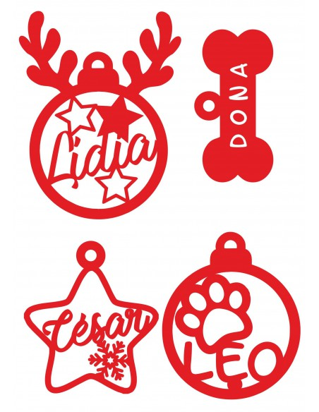 Adornos navideños mascotas para el árbol personalizados