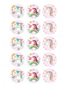 Papel de azúcar unicornio