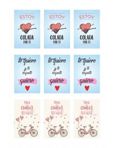 Papel de azúcar frases amor San Valentín