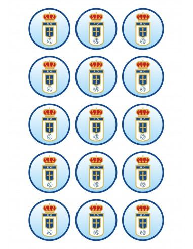 Papel de azúcar escudo Real Oviedo para galletas