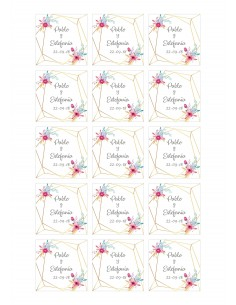 Papel de azúcar boda floral personalizado