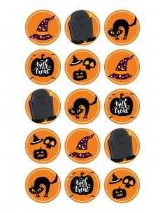 Papel de azúcar Brujas Halloween para galletas