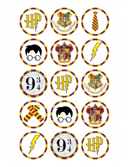 Papel de azúcar Harry Potter para galletas
