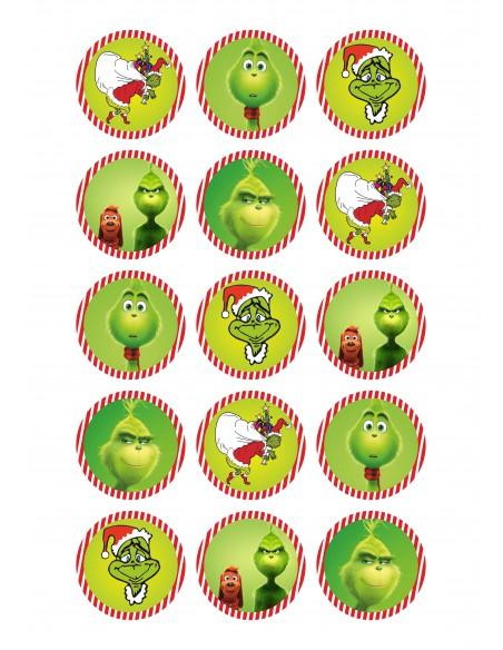 Papel de azúcar para galletas de Navidad Grinch
