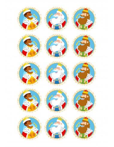 Papel de azúcar Reyes Magos navidad
