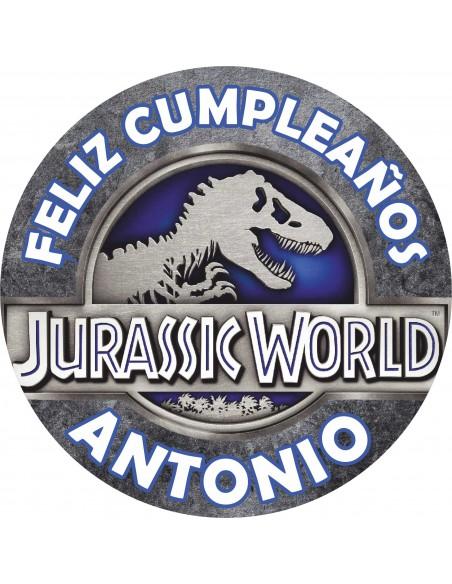 Papel de azúcar Jurassic World personalizado