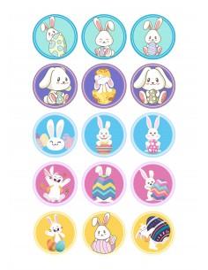 Papel de azúcar conejos de Pascua