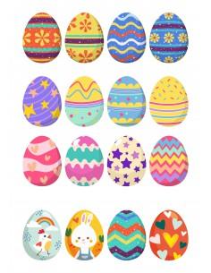 Papel de azúcar huevos de Pascua