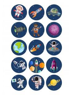 Papel de azúcar Astronautas