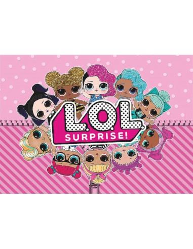 Papel de azúcar muñecas LOL Surprise
