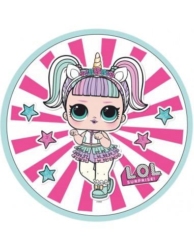 Papel de azúcar muñecas LOL modelo B