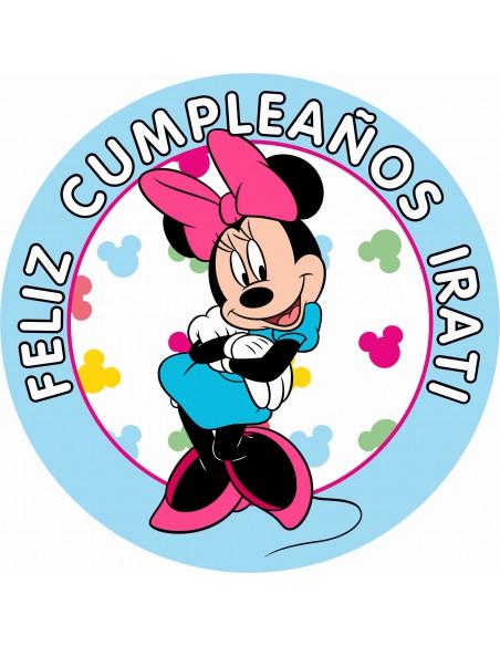 Papel de azúcar personalizado para tarta de cumpleaños Minnie