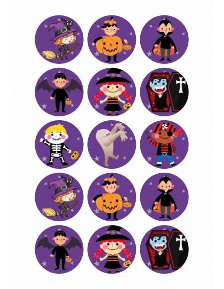 Papel de azúcar niños Halloween para galletas