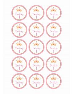 Papel de azúcar cumpleaños personalizado para Princesa