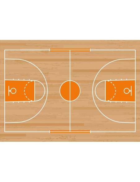 Papel de azúcar campo de baloncesto