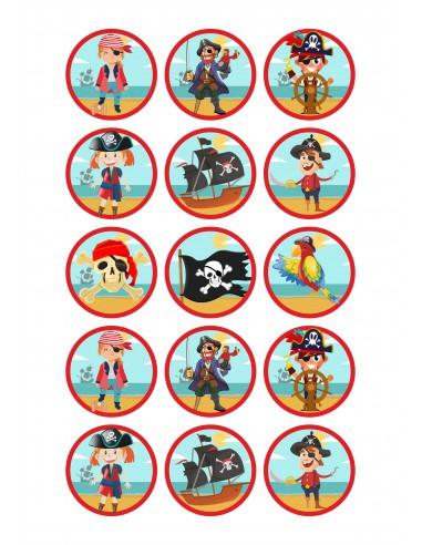 Papel de azúcar para galletas de Piratas