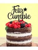 Topper tarta Feliz Cumpleaños