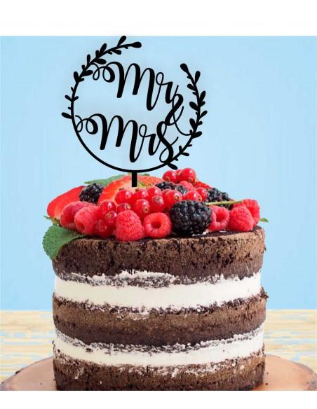 Topper tarta Mr & Mrs