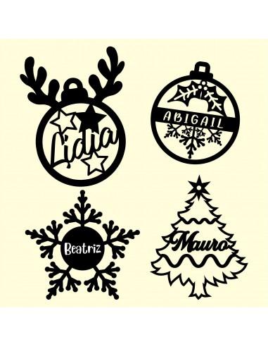 Adornos navideños para el arbol de Navidad personalizados