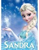 Papel de azúcar princesa Elsa Frozen personalizado