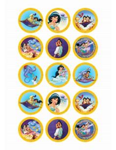Papel de azúcar Aladdin para galletas