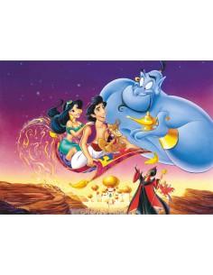 Papel de azúcar Aladdin rectangular para tarta