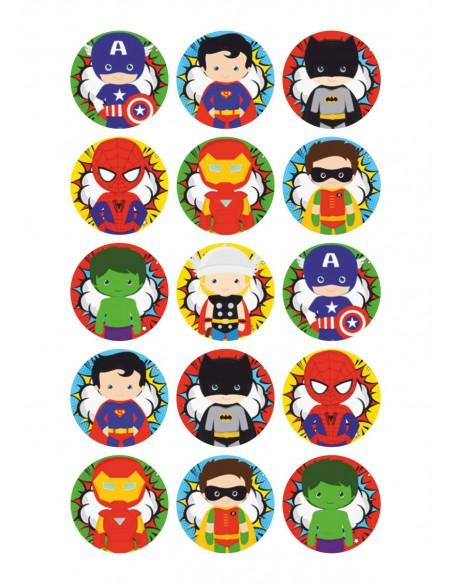 Papel de azúcar niños Super Héroes