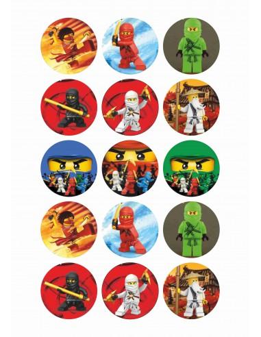 Papel de azúcar Lego Ninjago