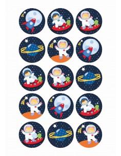 Papel de azúcar Astronautas galletas