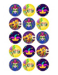 Papel de azúcar galletas Carnaval