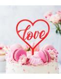 Topper Love para tarta