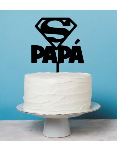 Topper tarta Super Papá