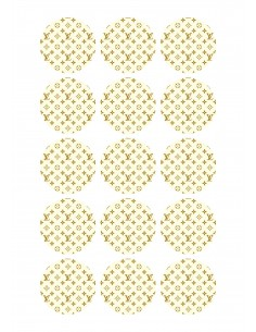 Papel de azúcar Louis Vuitton para galletas