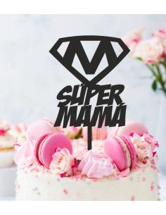 Topper tarta Super Mamá