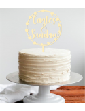 Topper tarta de boda corona