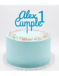 Topper cumpleaños nombre edad