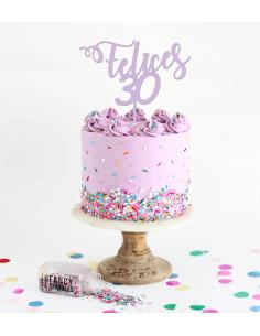 Topper para tarta felices edad